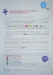 Spam in cutiile postale UPC Romania