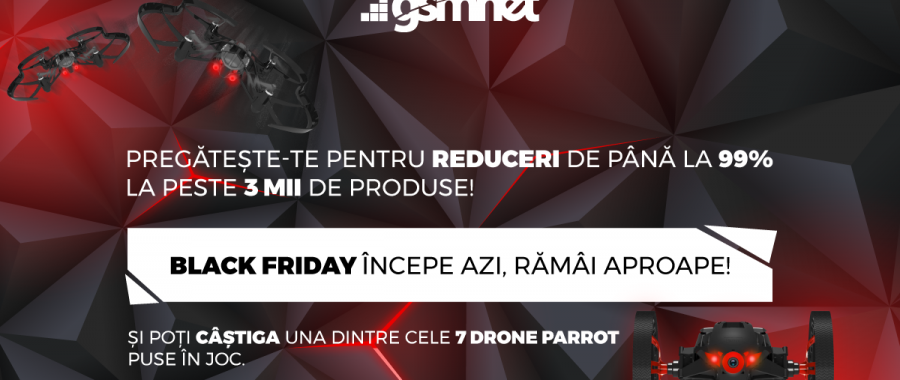 GSMnet.ro organizeaza in data de 17 noiembrie campania Black Friday 2017