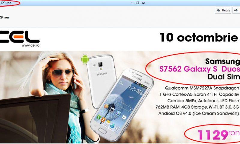 Cel(.ro) mai prost profita de lansarea Samsung Galaxy S3 Mini